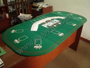Tablero acolchado de poker ovalado