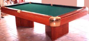 Mesa de billas (madera caoba)