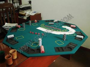 Tablero acolchado de casino octogonal