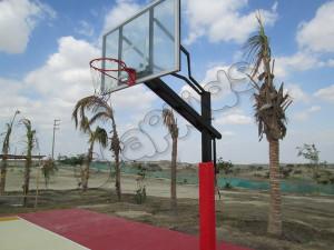 Parantes de basquet regulable anclado