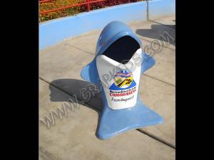 Papelera modelo delfín